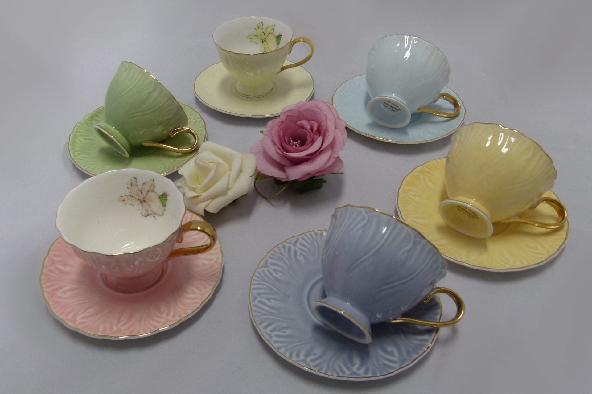 Espresso Cup And Saucer Turkish Coffee Cups In Pastel Colors