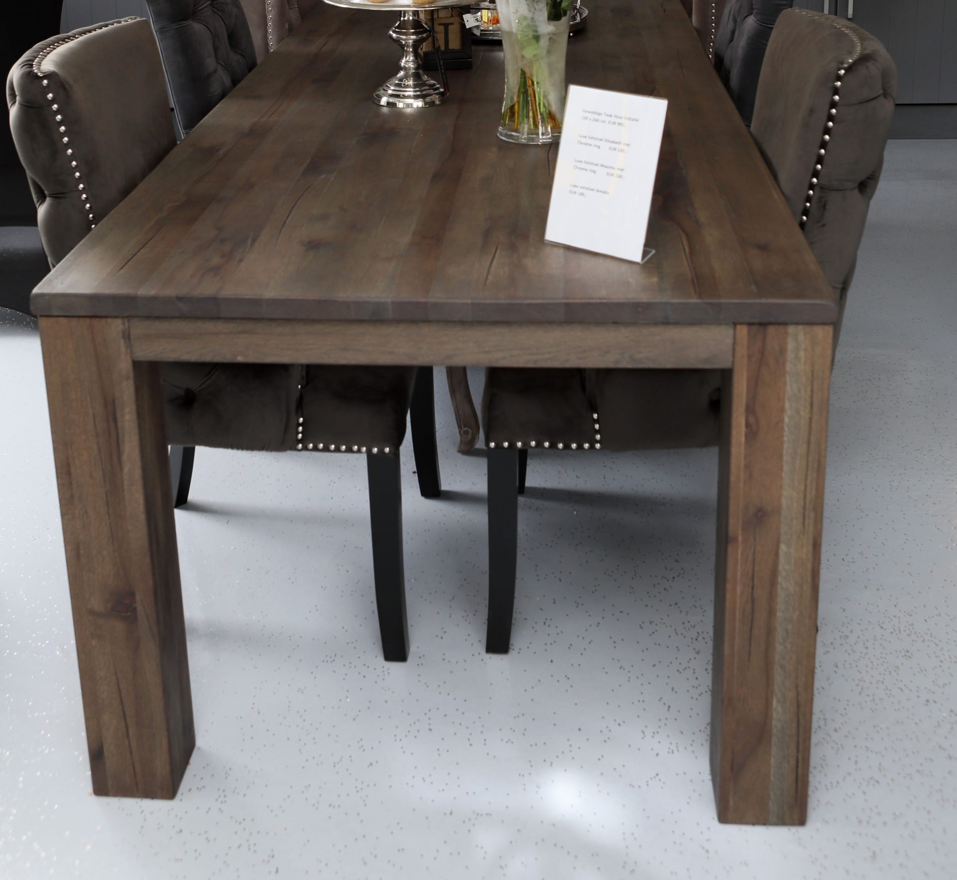 Mesa de comedor grande de madera de teca 100 x 260 cm - Diferentes ...